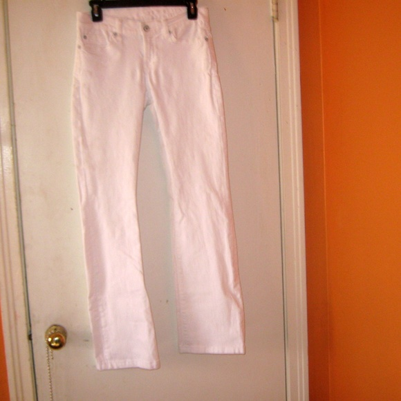 7 For All Mankind Denim - 7FAM Skinny Bootcut Size 26 White Jeans